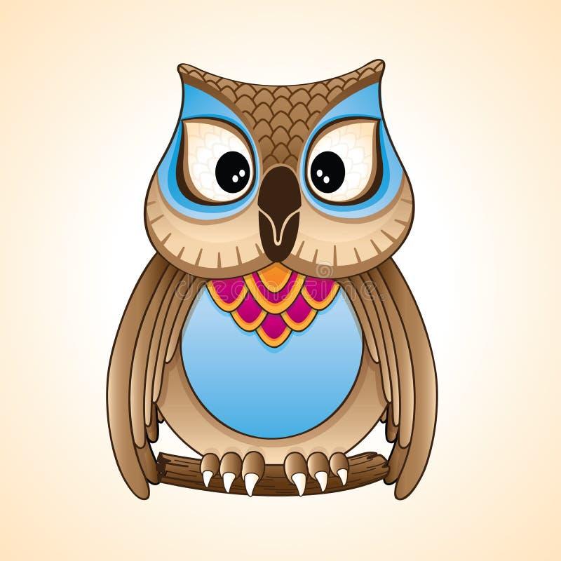 Little owl cartoon vector royalty free stock photography