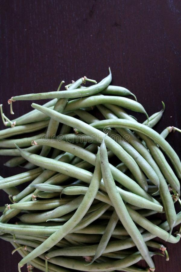 A pack of green beans. A little pack of delicious green beans from Quebec for cooking healthy royalty free stock photography