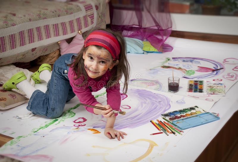 Download Little Painter Stock Image - Image: 18352641