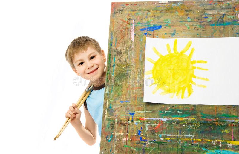 Little painter royalty free stock photography
