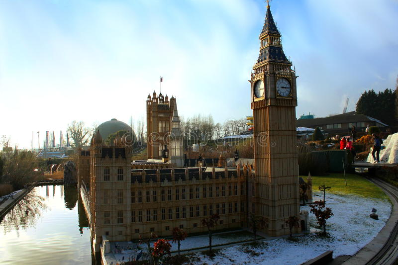 Little Palace of Westminster. A big miniature of the Palace of Westminster royalty free stock image
