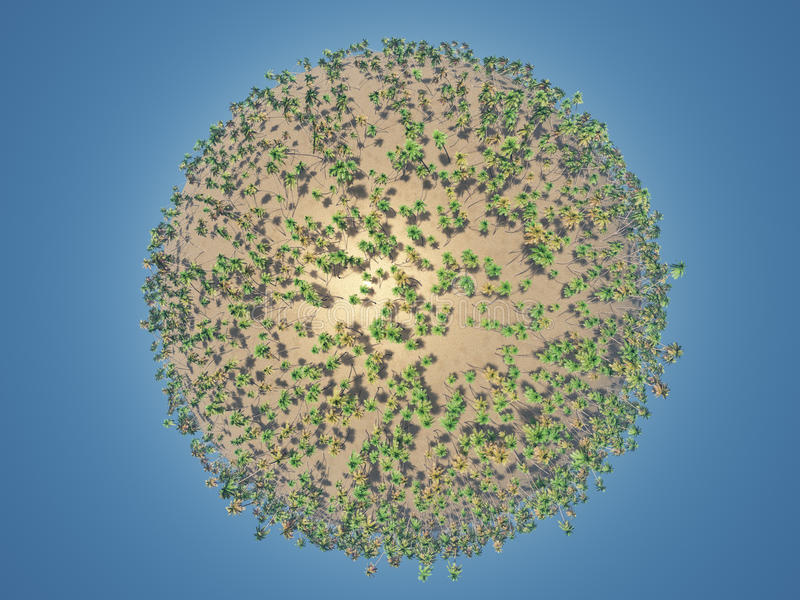 Download Little Palm Planet stock illustration. Illustration of vacation - 18267890