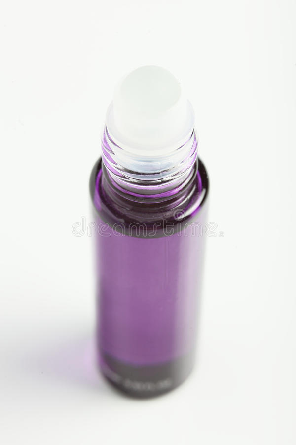 Little parfume bottle on white background stock photography