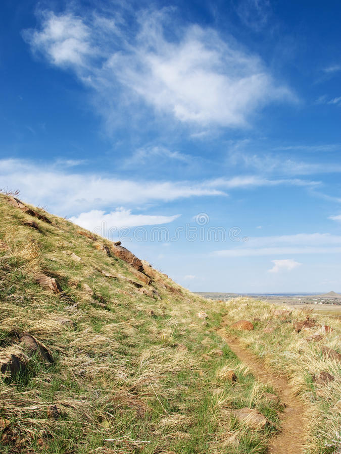 Download Little Path Along An Open Hillside Stock Photo - Image of bright, horizon: 16143184
