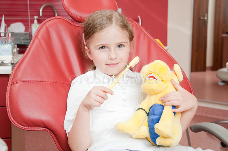 Little Patient At The Dentist Royalty Free Stock Photos