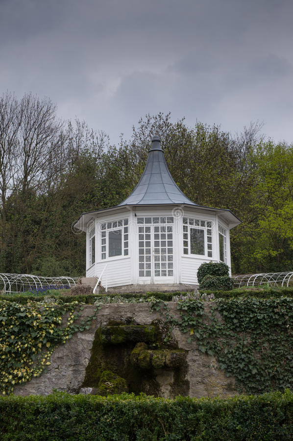 Little pavilion in the park royalty free stock photos