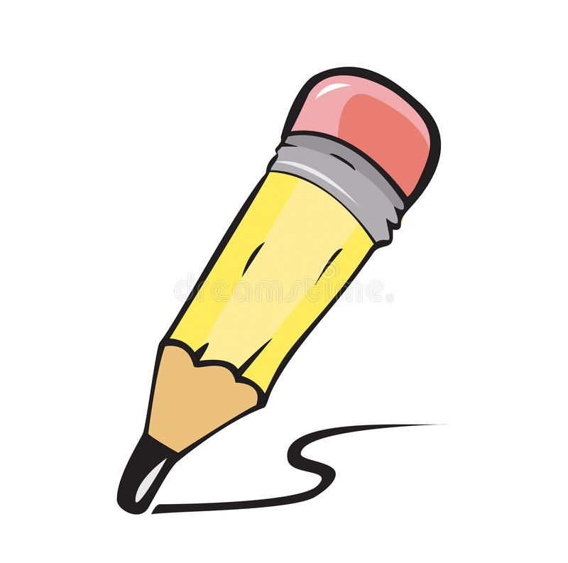 Download Little pencil stock illustration. Image of tool, rubber - 26616640