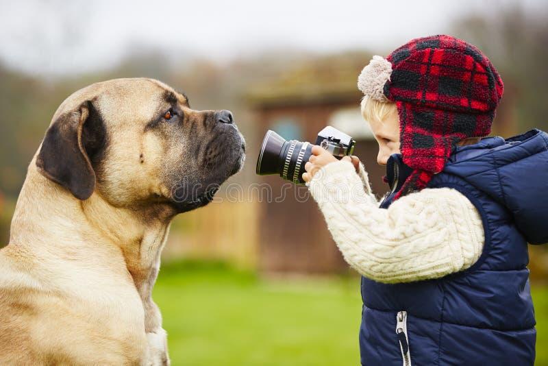 Little photographer royalty free stock photos
