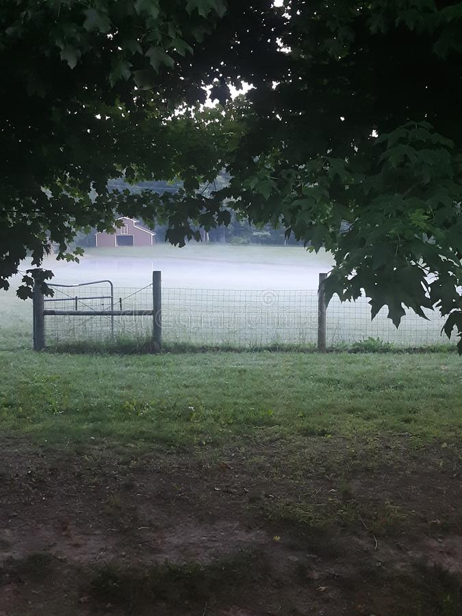 A little piece of Heaven. A little  of heaven, countrylife, farmerslife, fog royalty free stock photos