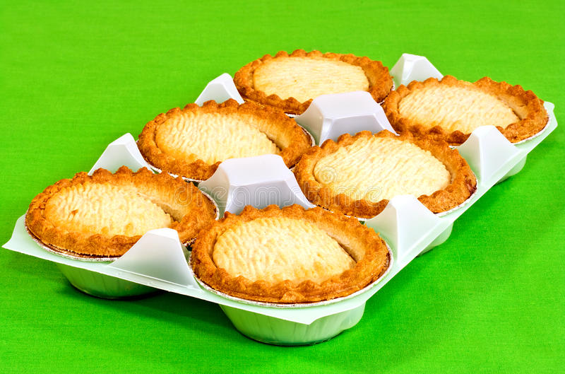 shop bought pies stock photo