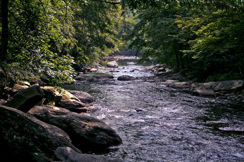 Little Pigeon River. An image the Little Pigeon River Smoky Mountains Tennessee royalty free stock photography