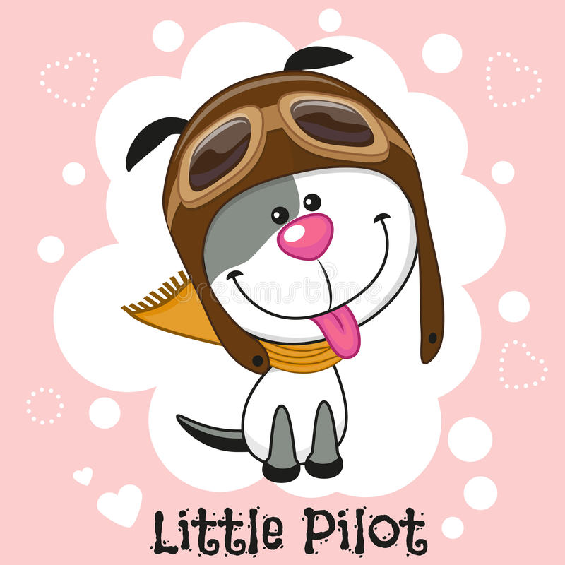 Little Pilot vector illustration