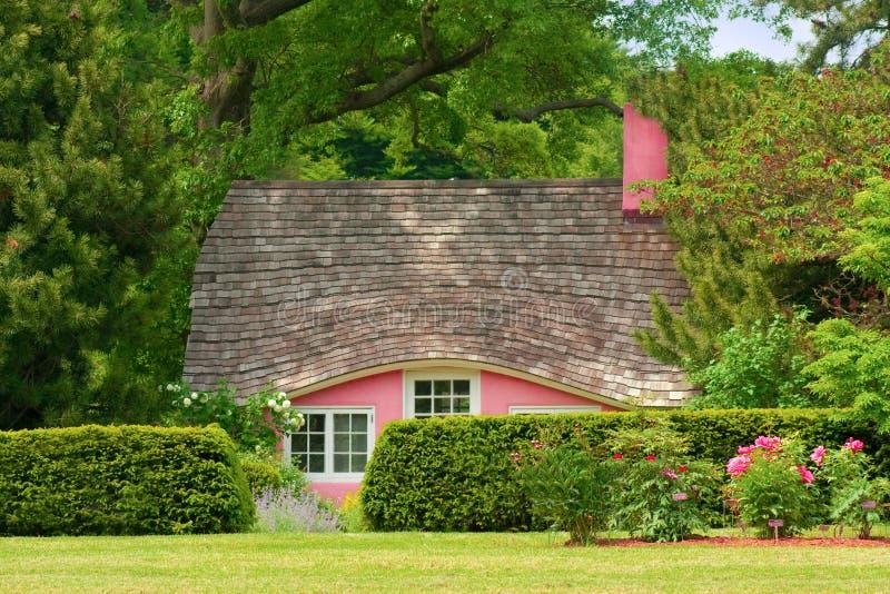 Download Little Pink Cottage stock photo. Image of serene, arboretum - 14484258