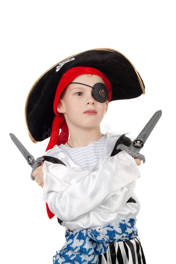 Little pirate royalty free stock photography