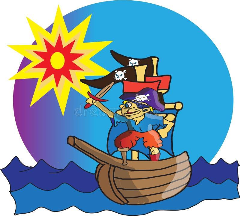 little piratkopierar royaltyfri illustrationer