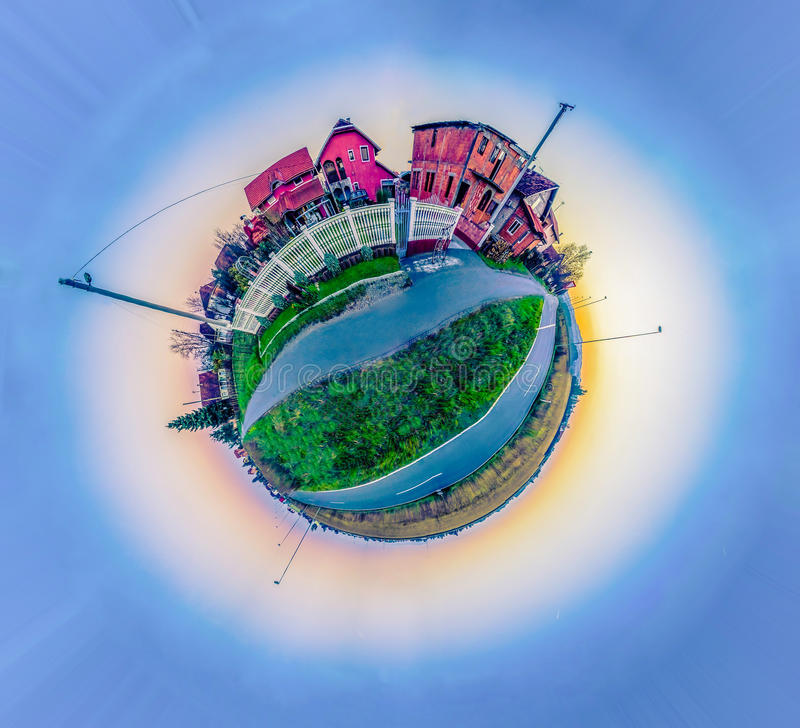 Little planet stock photography