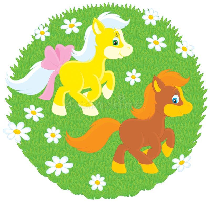 Download Little Ponies stock vector. Image of baby, races, little - 24038489