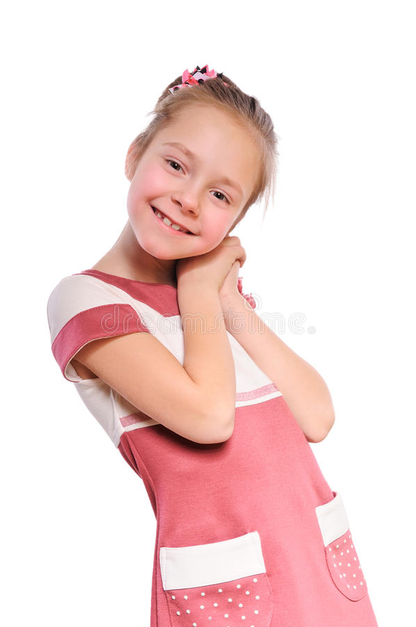 Download Little positive girl stock photo. Image of face, smile - 23723742