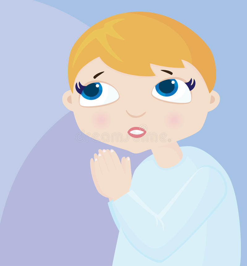 Little Prayboy Royalty Free Stock Image