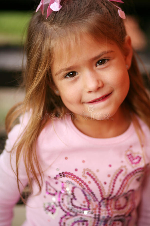 Little preschool blonde girl royalty free stock images