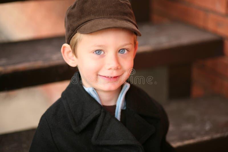 Little preschool boy smiling royalty free stock photography