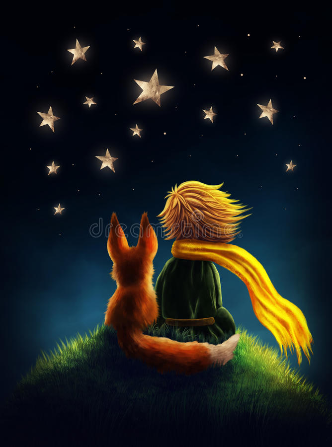 Little prince royalty free illustration