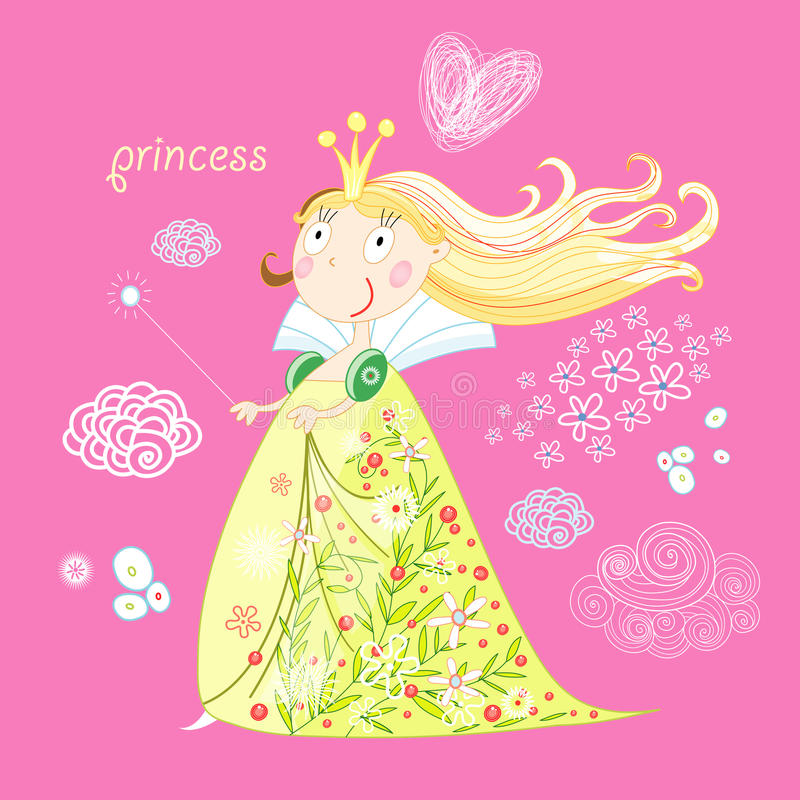 Download Little Princess stock vector. Image of yellow, lines - 21959746