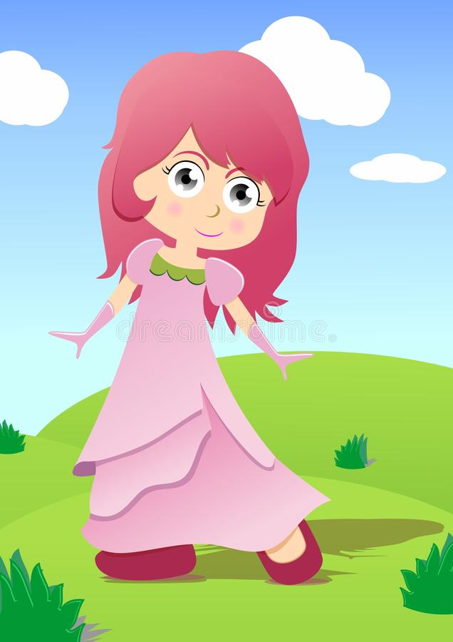 Download Little princess stock illustration. Image of drawing - 24916407