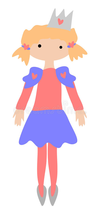 Download Little Princess stock illustration. Image of little, comic - 9185676