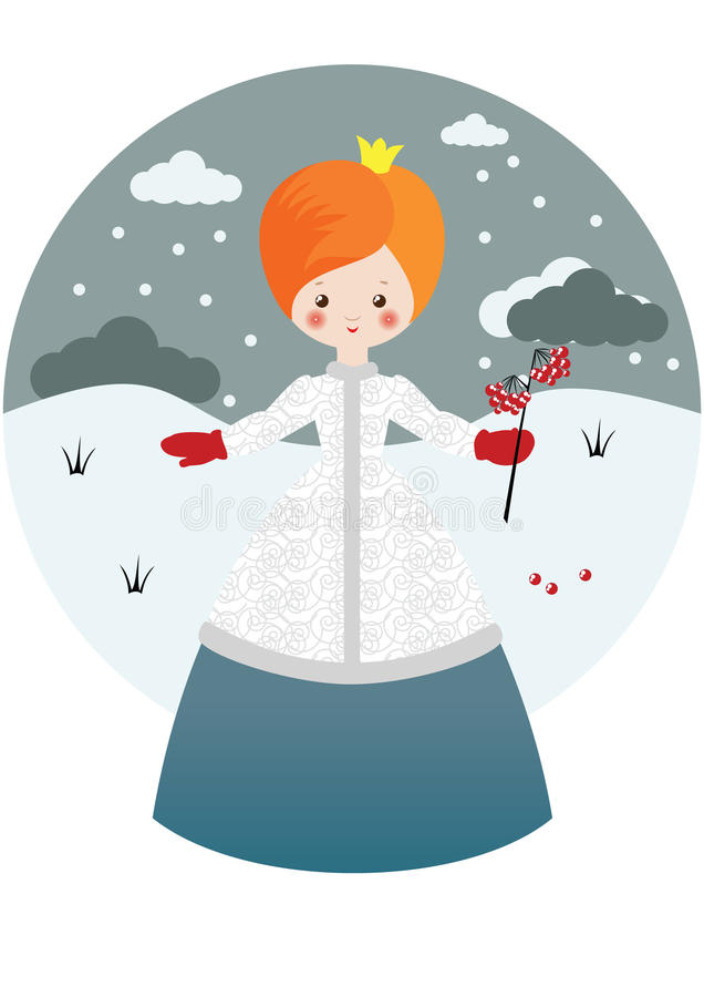 Download Little Princess With Ashberry Stock Vector - Illustration: 16875312