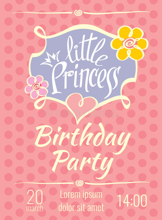 Little princess birthday party vector poster or invitation card download little princess birthday party vector poster or invitation card template stock vector illustration of stopboris Choice Image