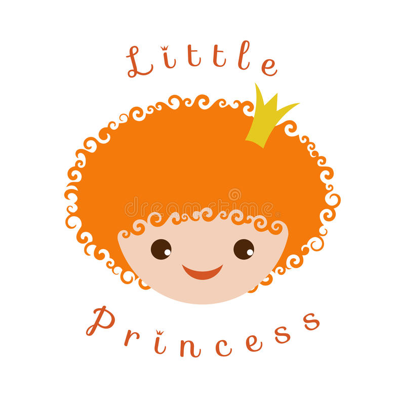 Little Princess. Vector image isolated on a white background for girlish design stock illustration