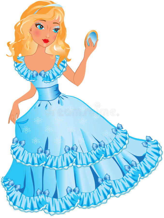 Free Little Princess With Mirror Royalty Free Stock Photos - 17072918