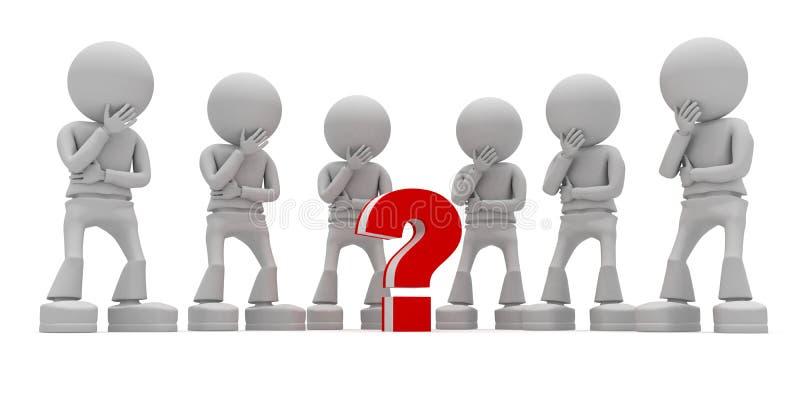 Little question stock illustration