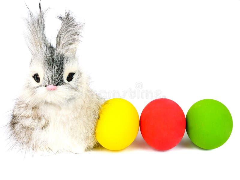 little rabbit and ester eggs stock image