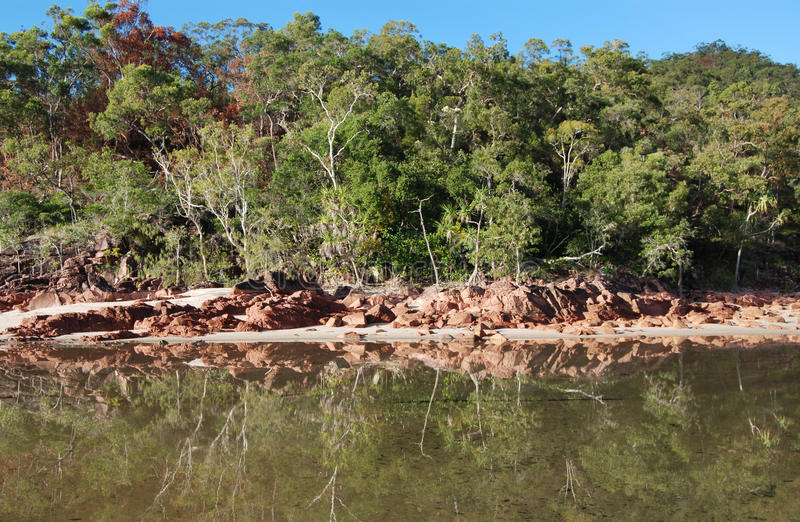 Little Ramsay Bay on Hinchinbrook Island stock photo