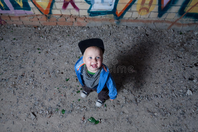 Little rapper stock photography