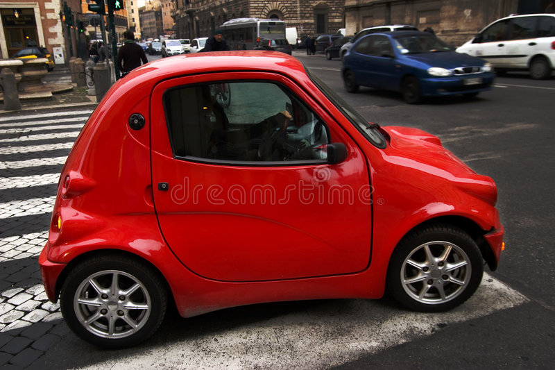 Little red car royalty free stock photos