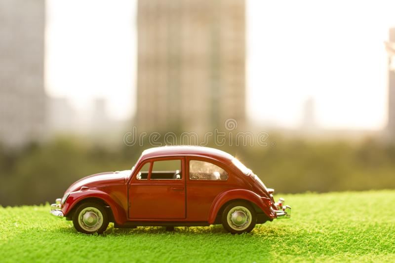 Little red car. royalty free stock photography