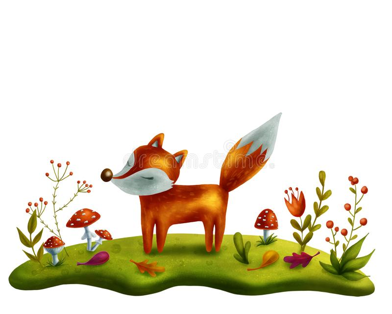 Download Little red fox stock illustration. Illustration of copy - 108502353