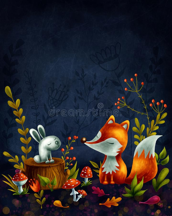 Download Little red fox stock illustration. Illustration of magic - 109096296