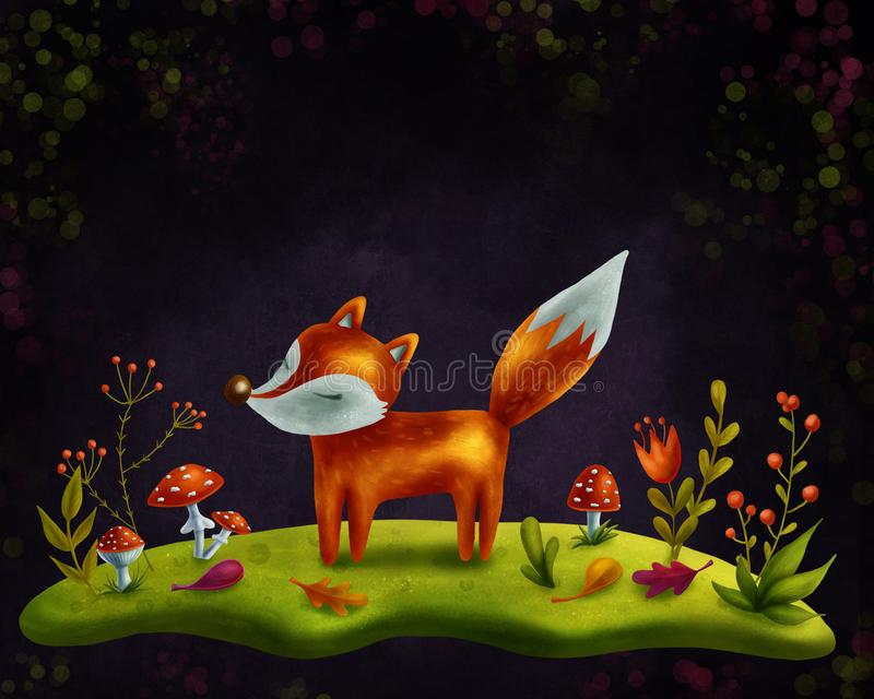 Download Little red fox stock illustration. Illustration of magic - 108502313