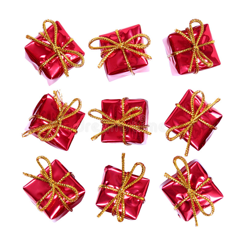 Little red gifts royalty free stock images