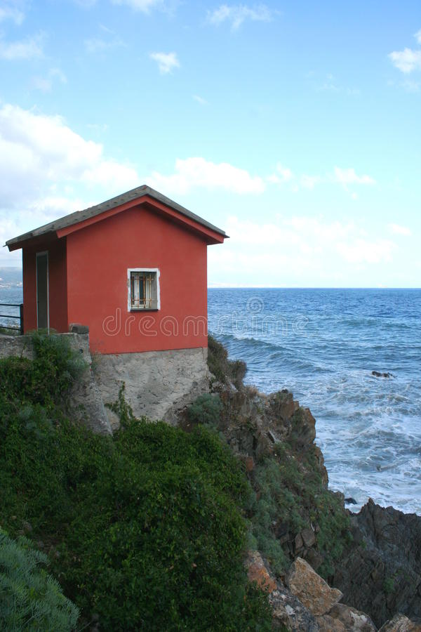 Download Little Red House stock image. Image of cliff, little - 48071013