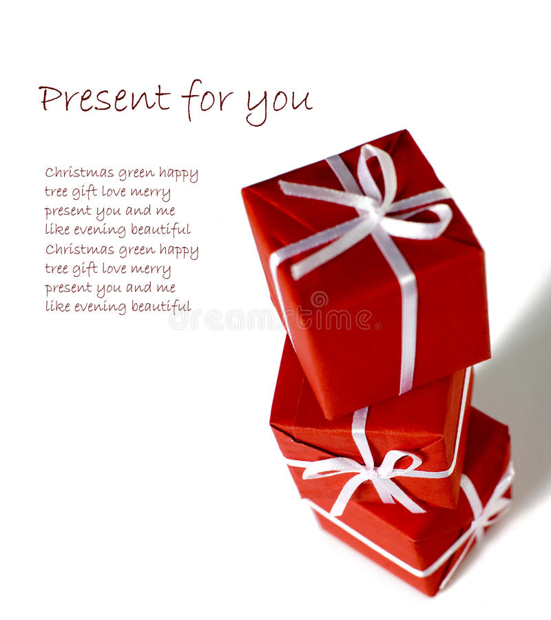 Download Little red presents stock photo. Image of square, paper - 26976366