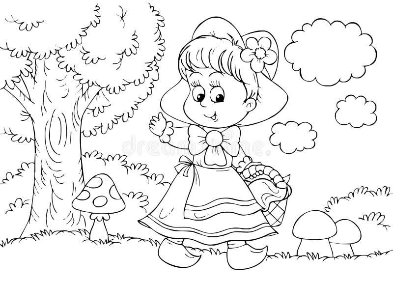 Little Red Riding Hood vector illustration