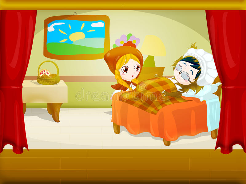 Download Little red riding hood 6 stock illustration. Image of artistic - 23687908