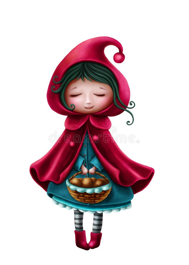 Little red riding hood. And the wolf royalty free illustration