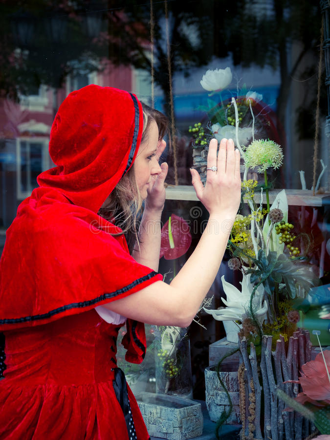 Little Red Riding Hood on showcase royalty free stock image