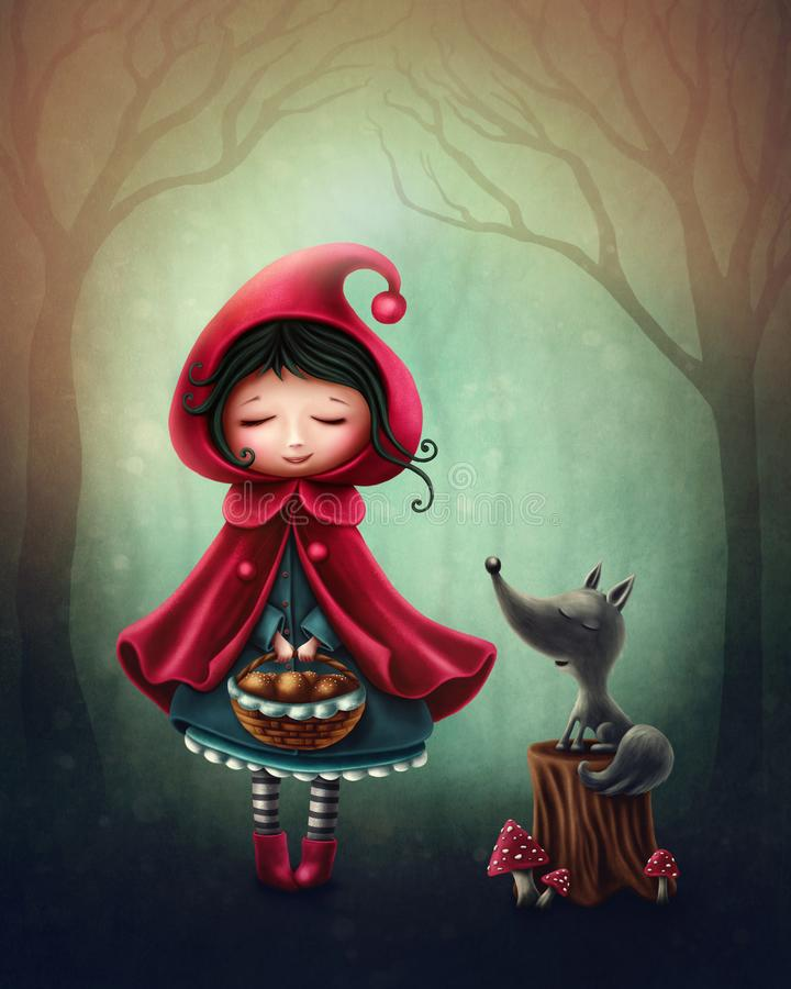 Download Little red riding hood stock illustration. Illustration of tree - 100743639